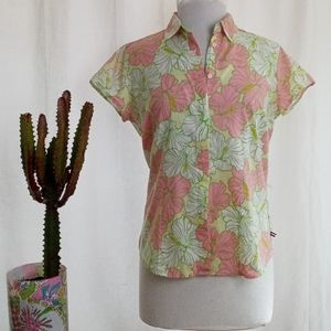 Izod Lilly Pulitzer inspired button down size M